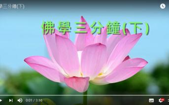佛學三分鐘(下)(佛教大雄中學 駱惠玲老師提供)