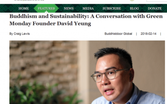 Buddhism and Sustainability: A Conversation with Green Monday Founder David Yeung