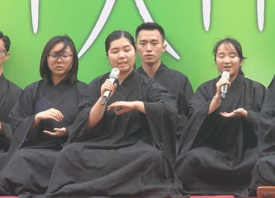 佛教何南金中學三十週年校慶.千人禪修