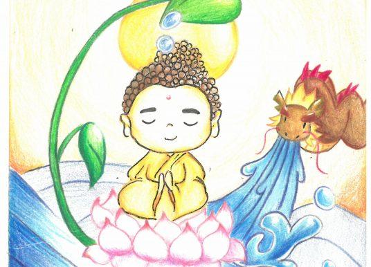 2020-2021年佛誕卡設計比賽小學手繪高級組冠軍 譚欣兒